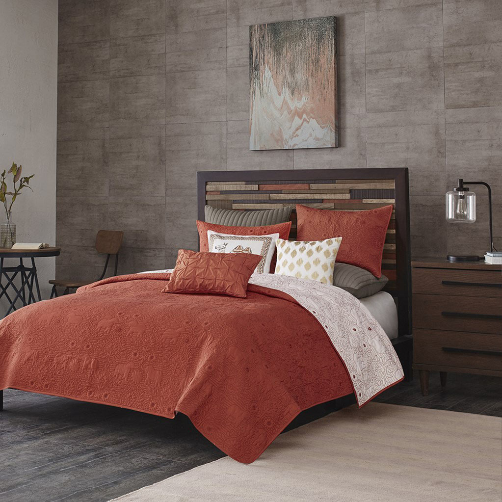 Kandula Coral Coverlet By Ink Amp Ivy Bedding Beddingsuperstore Com