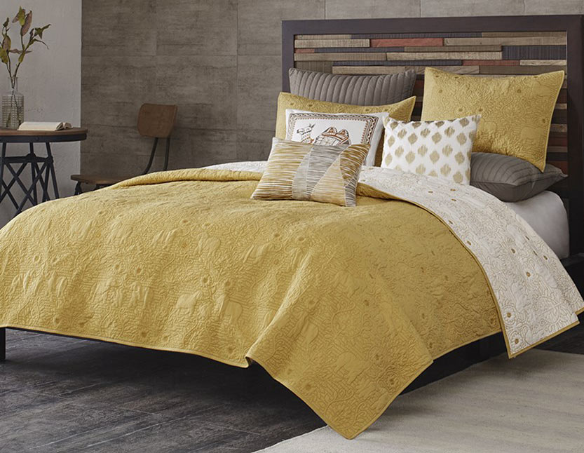 Kandula Yellow Coverlet By Ink Amp Ivy Bedding