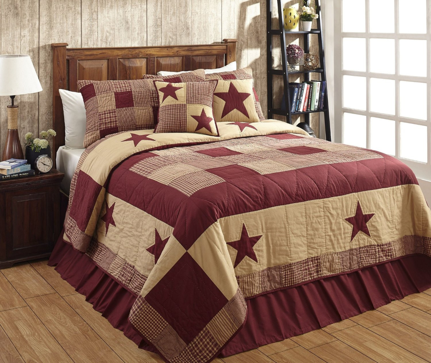 primitive product skirts department bedding bed folded bedspreads style for quilts category and country
