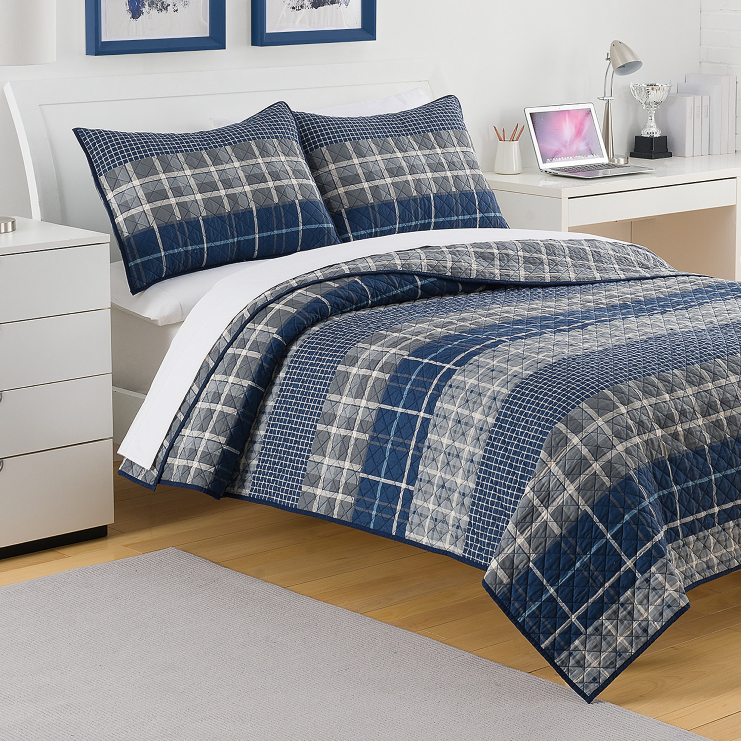 Queen Size Bedding Plaid Boys