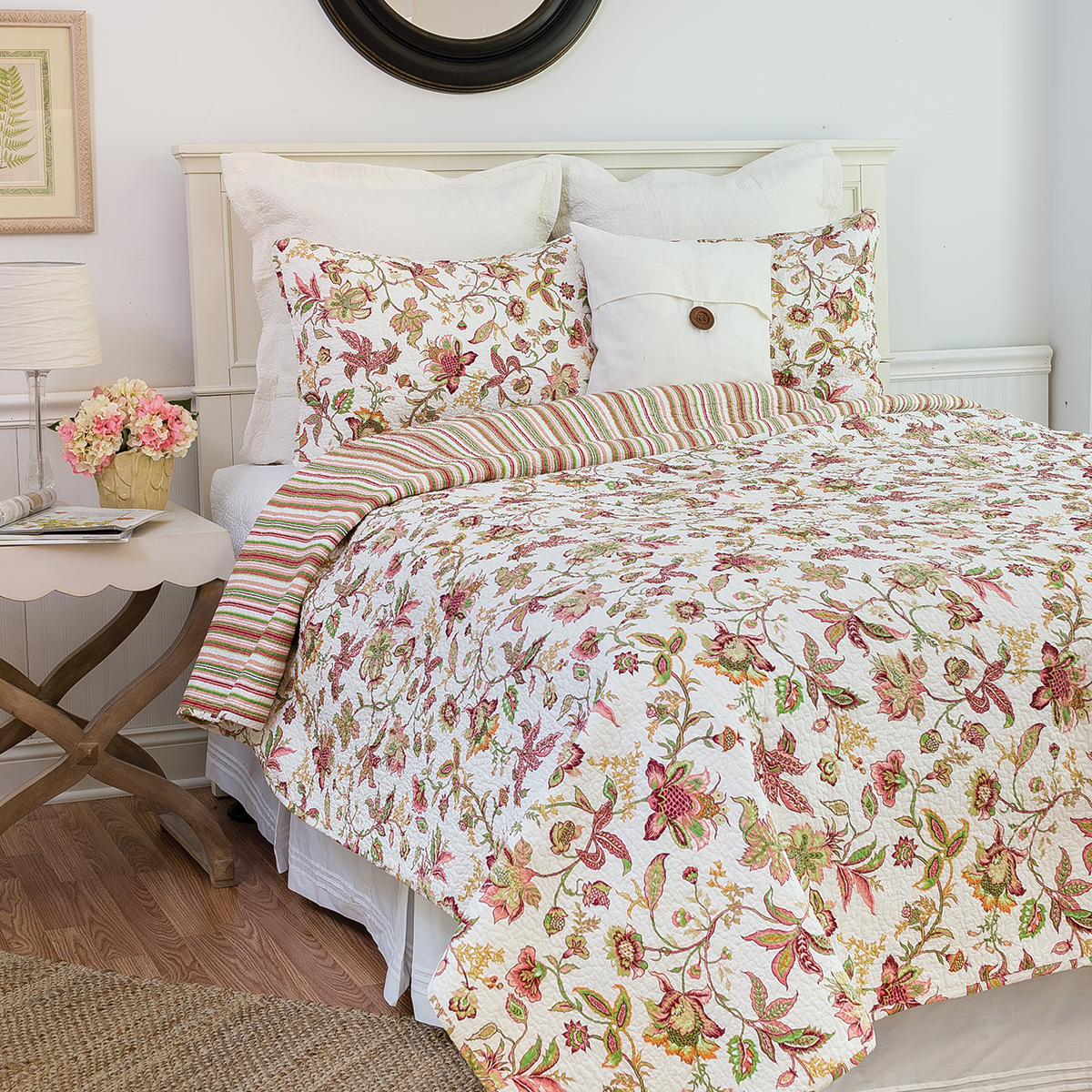 Jacobean Pink By C Amp F Quilts Beddingsuperstore Com