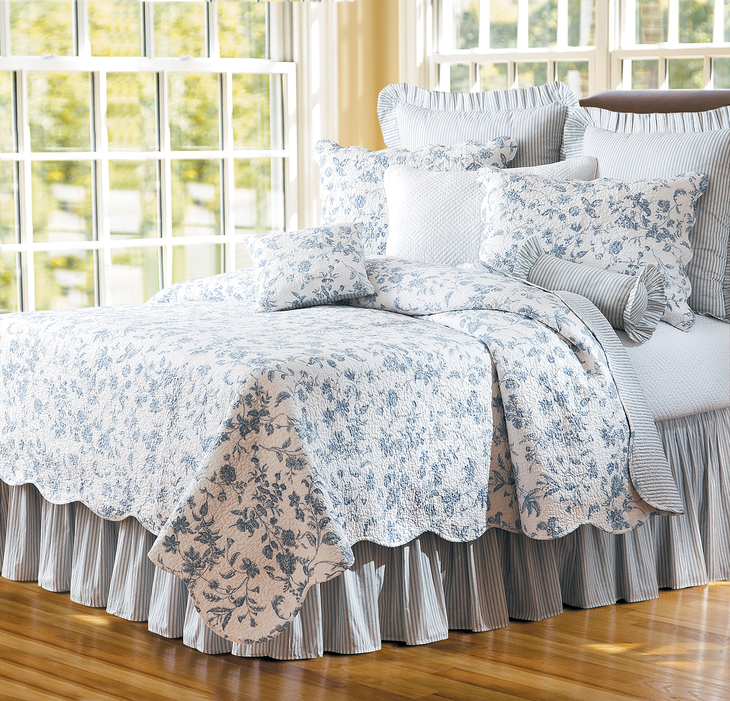 Brighton Blue Toile By C Amp F Quilts Beddingsuperstore Com