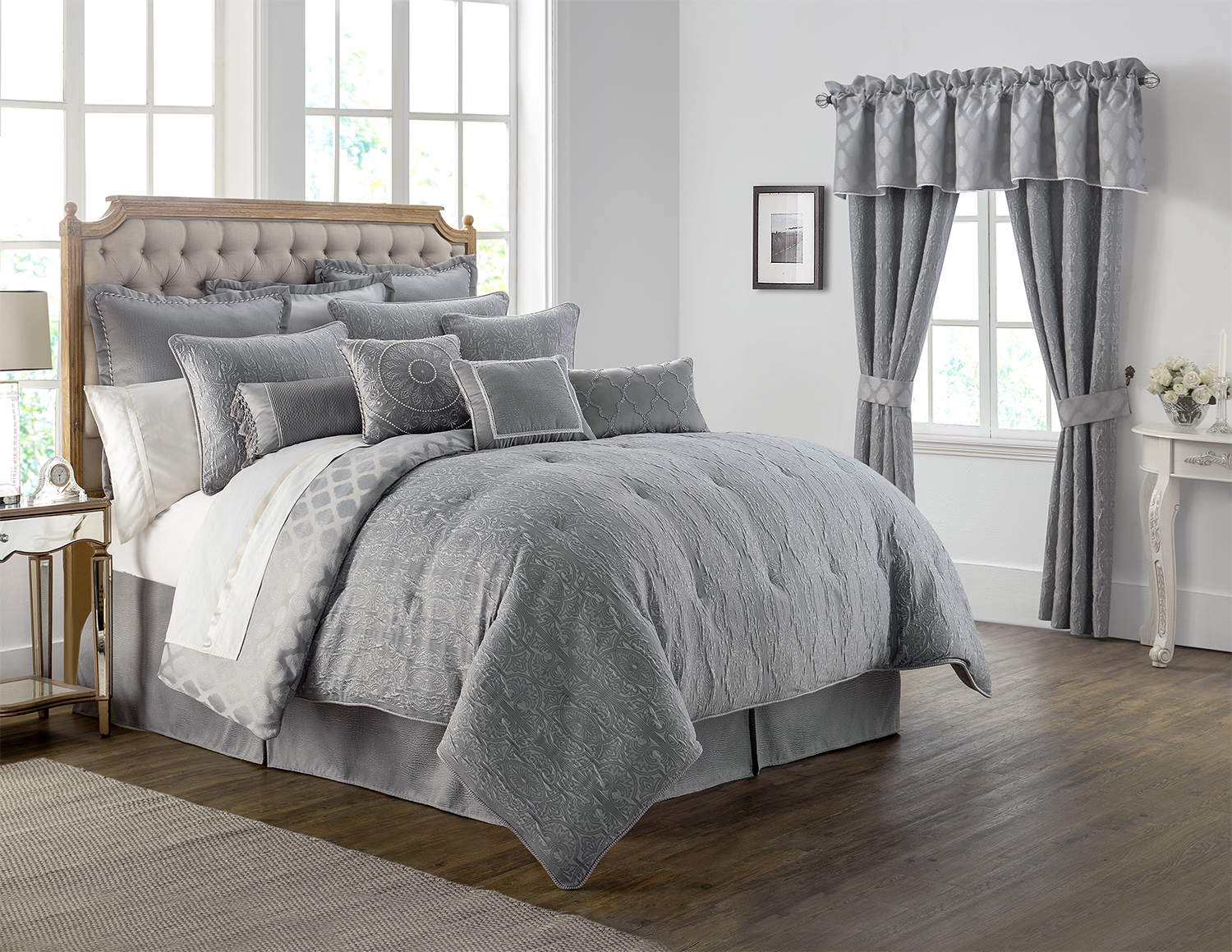 Carlisle Platinum By Waterford Luxury Bedding