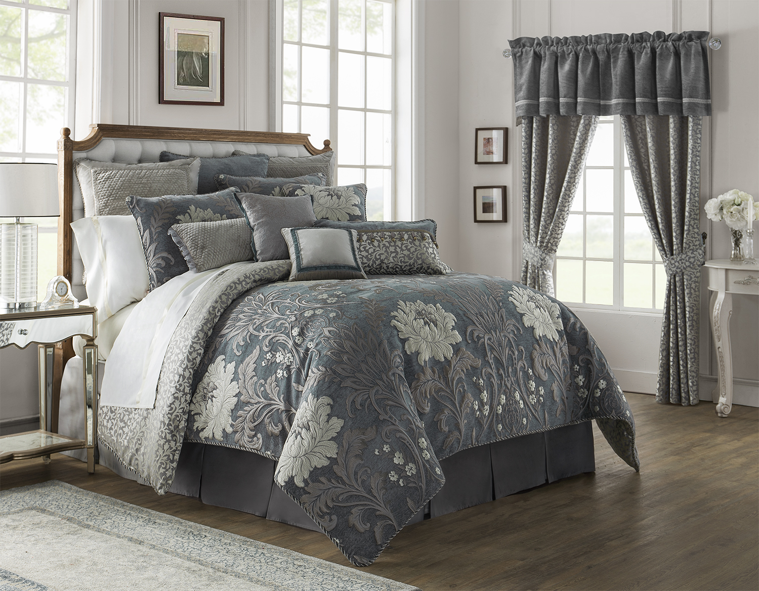Ansonia Pewter By Waterford Luxury Bedding