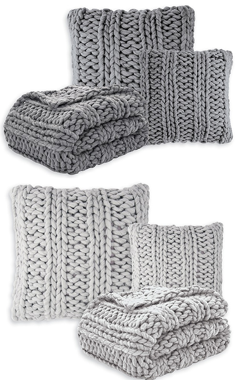 Chunky Knit Throw by HB Brunelli