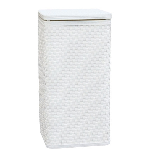 Whitaker Hamper White  by Lamont Home
