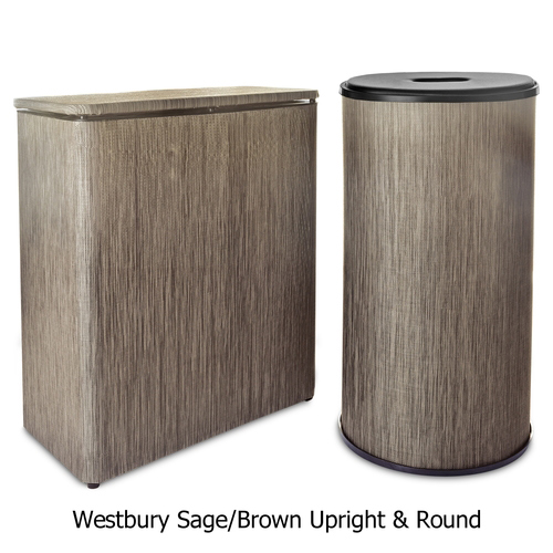 Textilene Hamper Westbury Sage/Brown by Lamont Home