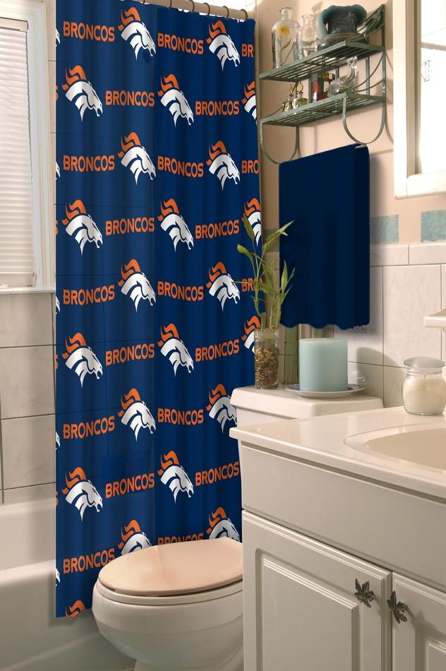 Team Curtains Teamcurtainscom: Denver Bronco's Shower Curtain