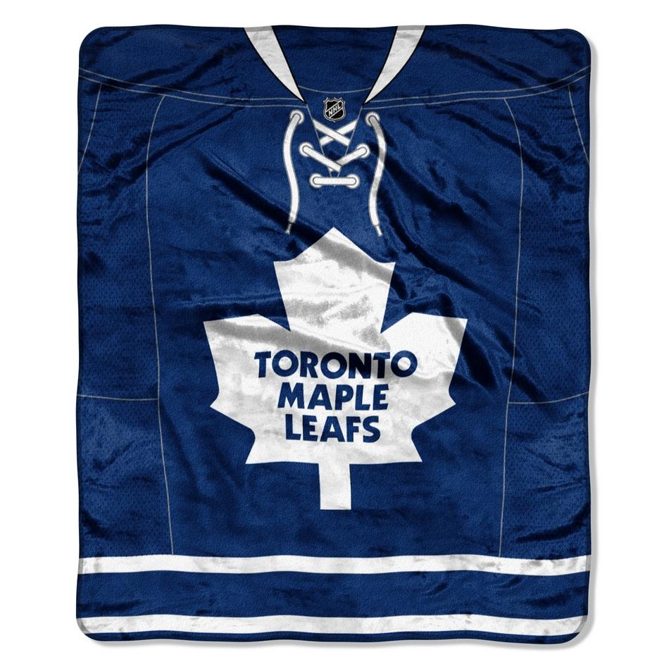 Toronto Maple Leafs Jersey Raschel Throw