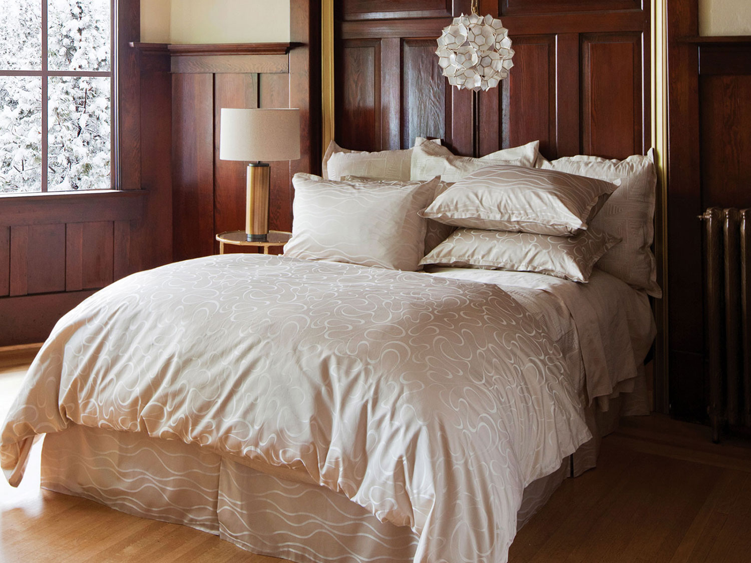 Biella Sand by St. Geneve Luxury Bedding