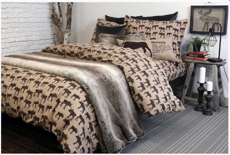 Gray Double Comforter : Woodland charcoal grey comforter set full double
