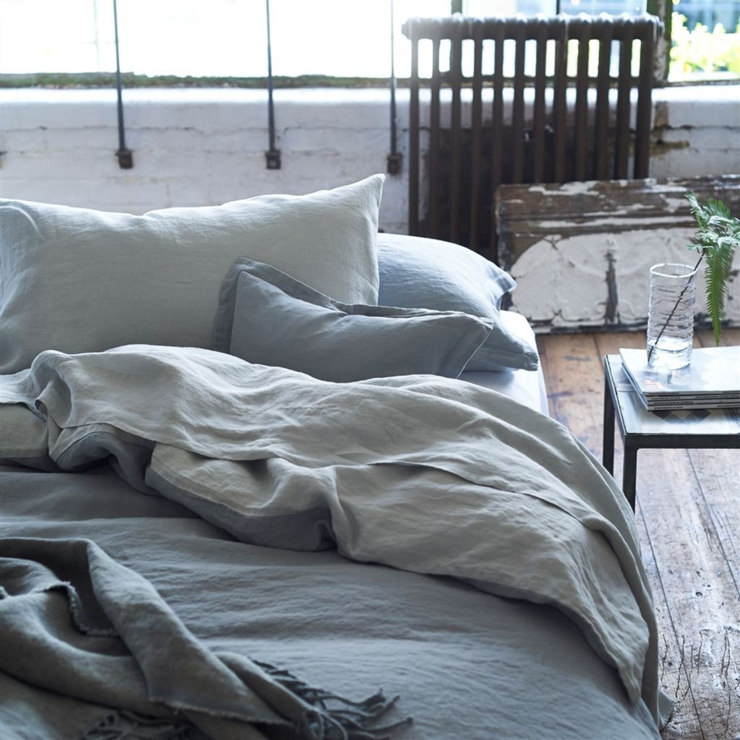 Biella Pale Grey And Dove By Designers Guild Bedding