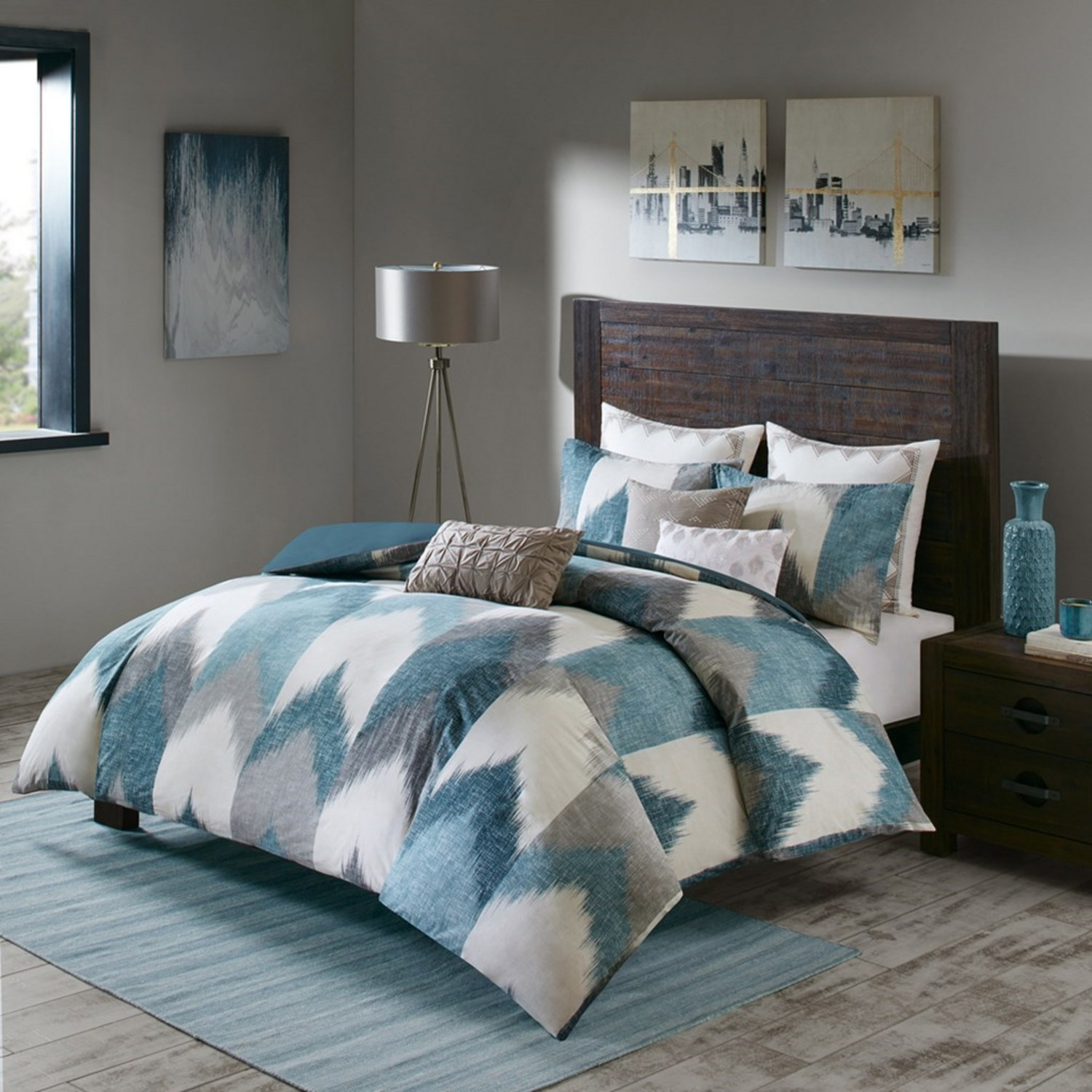 Alpine Aqua by Ink & Ivy Bedding