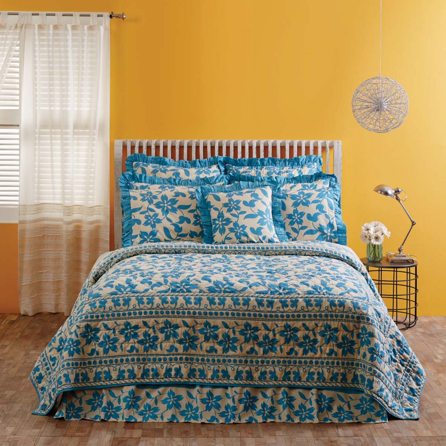 Briar Azure By Vhc Brands Quilts Beddingsuperstore Com