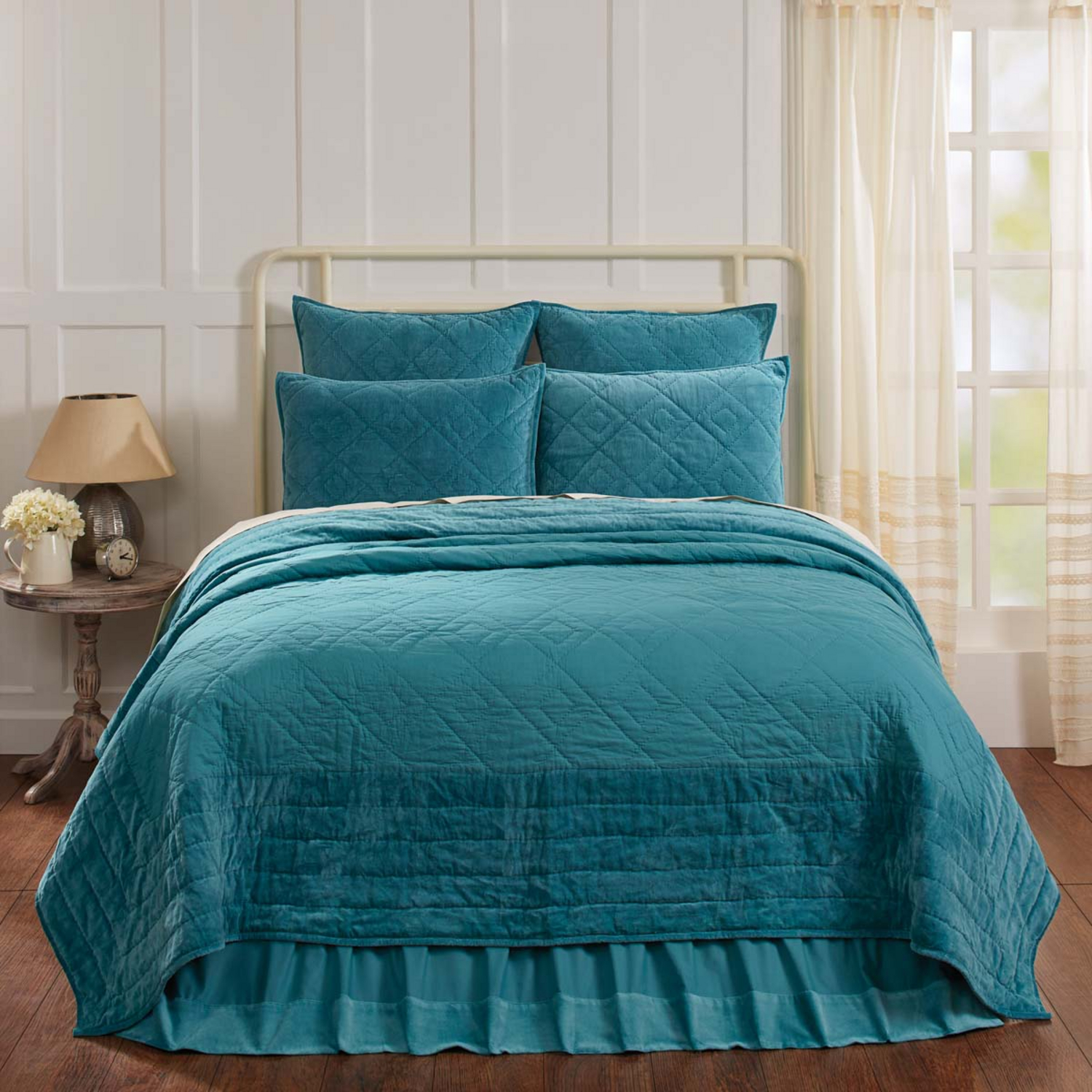 Eleanor Teal By Vhc Brands Quilts Beddingsuperstore Com