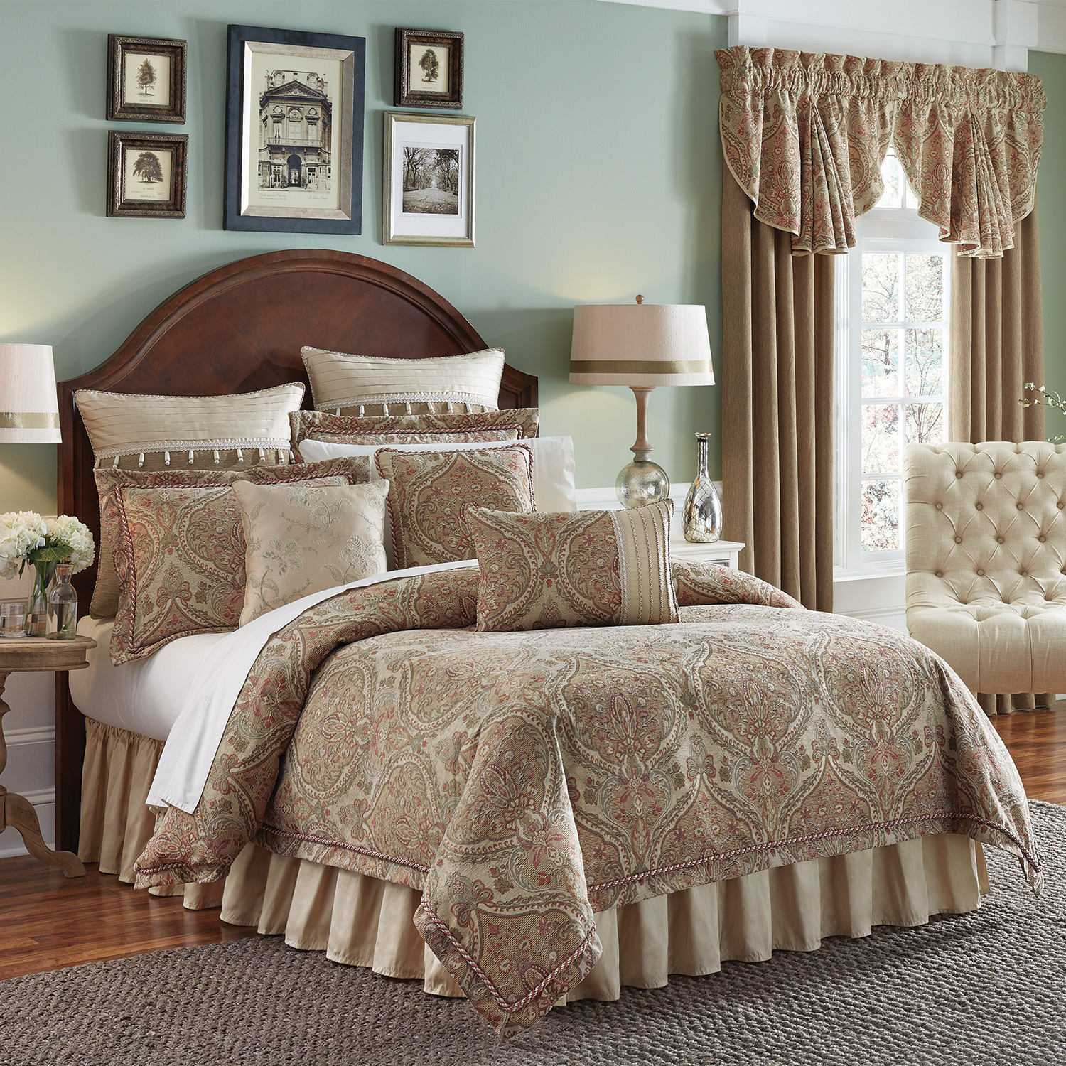 Birmingham by croscill home fashions for Designer linens and home fashions