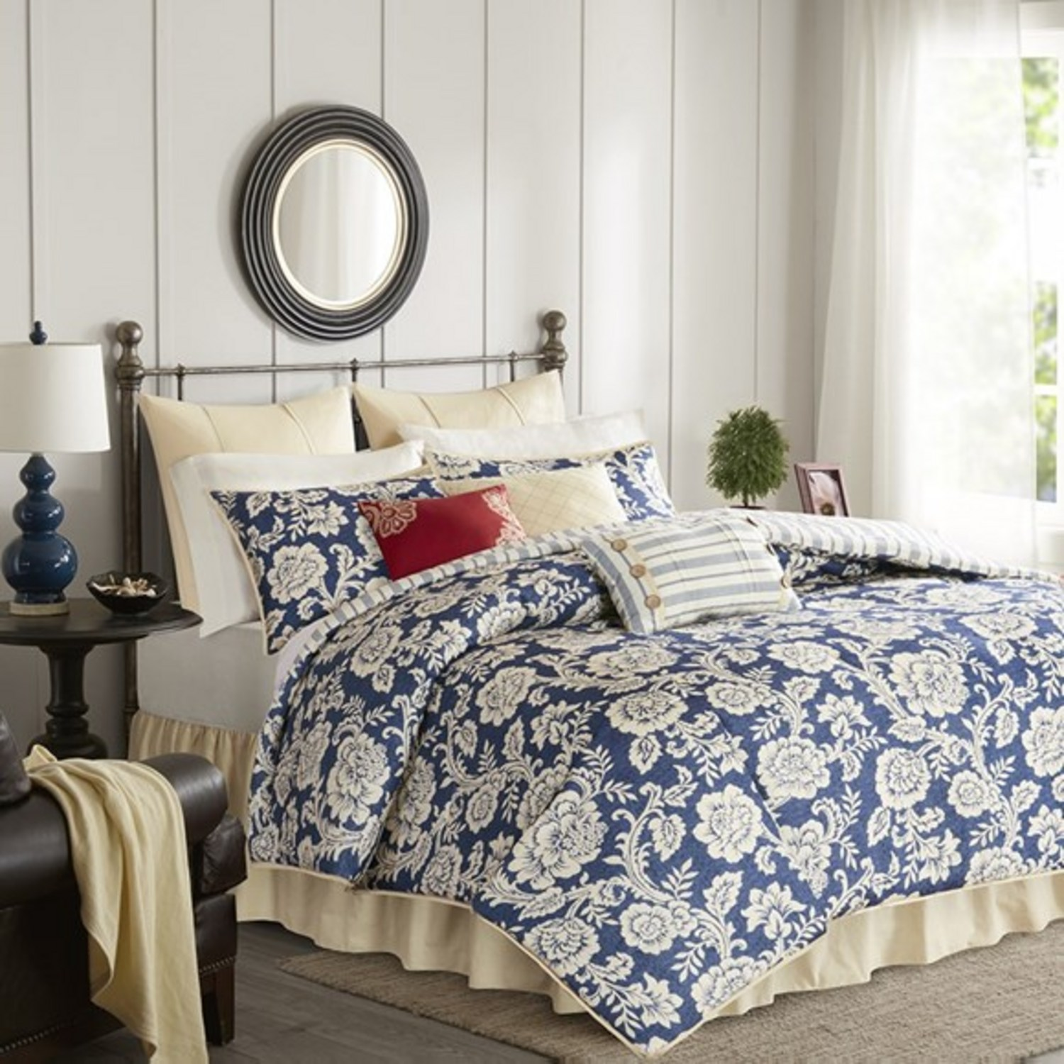 Lucy Navy By Madison Park Beddingsuperstore Com