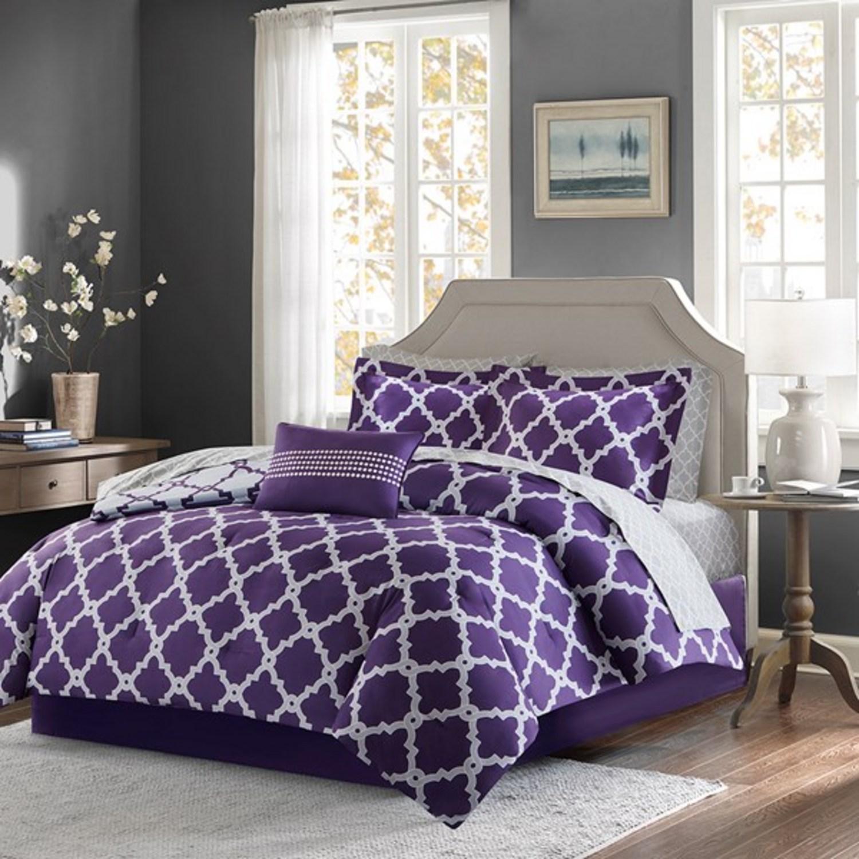 Merritt Purple Grey By Madison Park Beddingsuperstore Com
