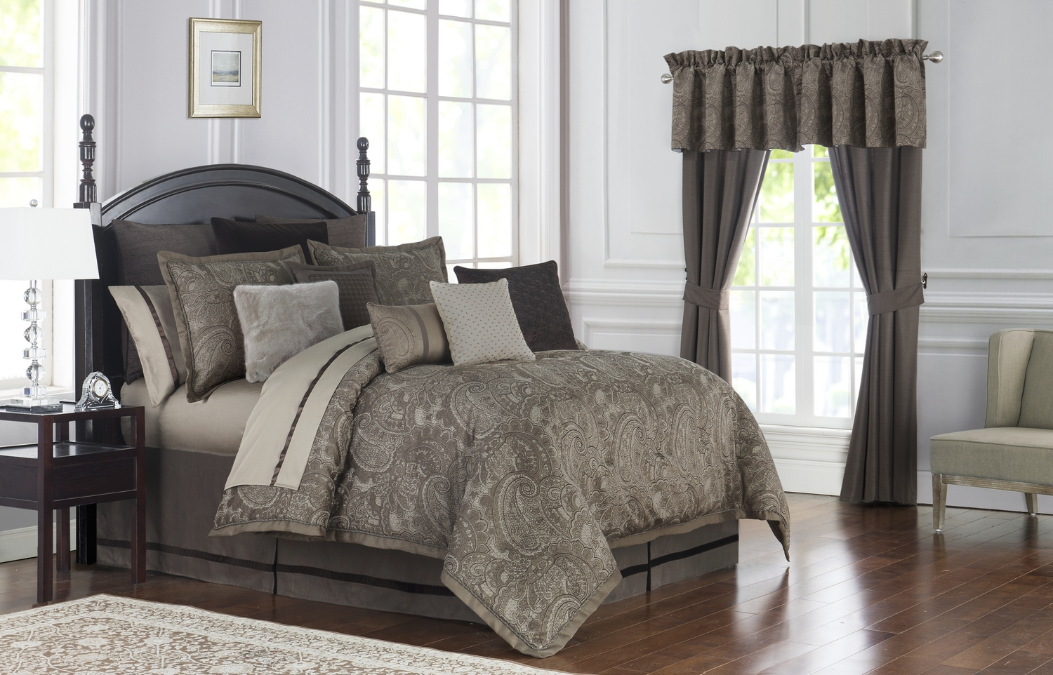 Glenmore Mink By Waterford Luxury Bedding