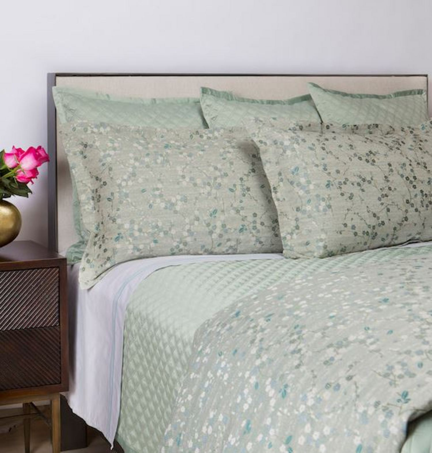 Cherry Blossom Seablue by Ann Gish Art of Home Bedding
