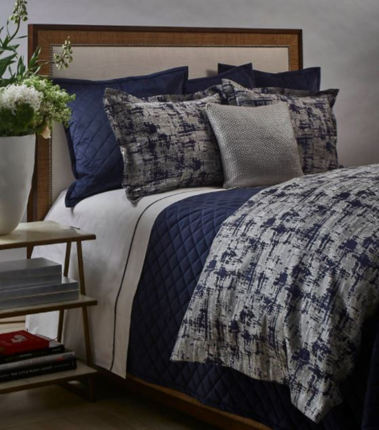scratch navysilver by ann gish art of home bedding - Navy Bedding