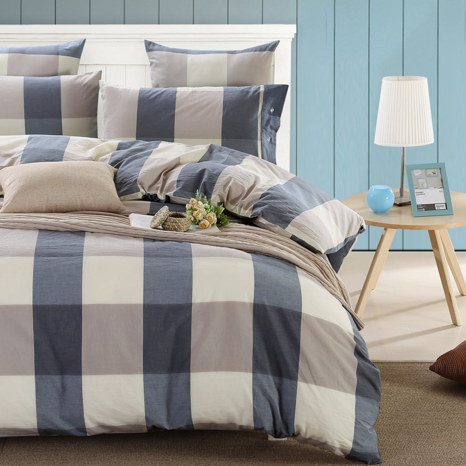 Blue Plaid by Daniadown Bedding