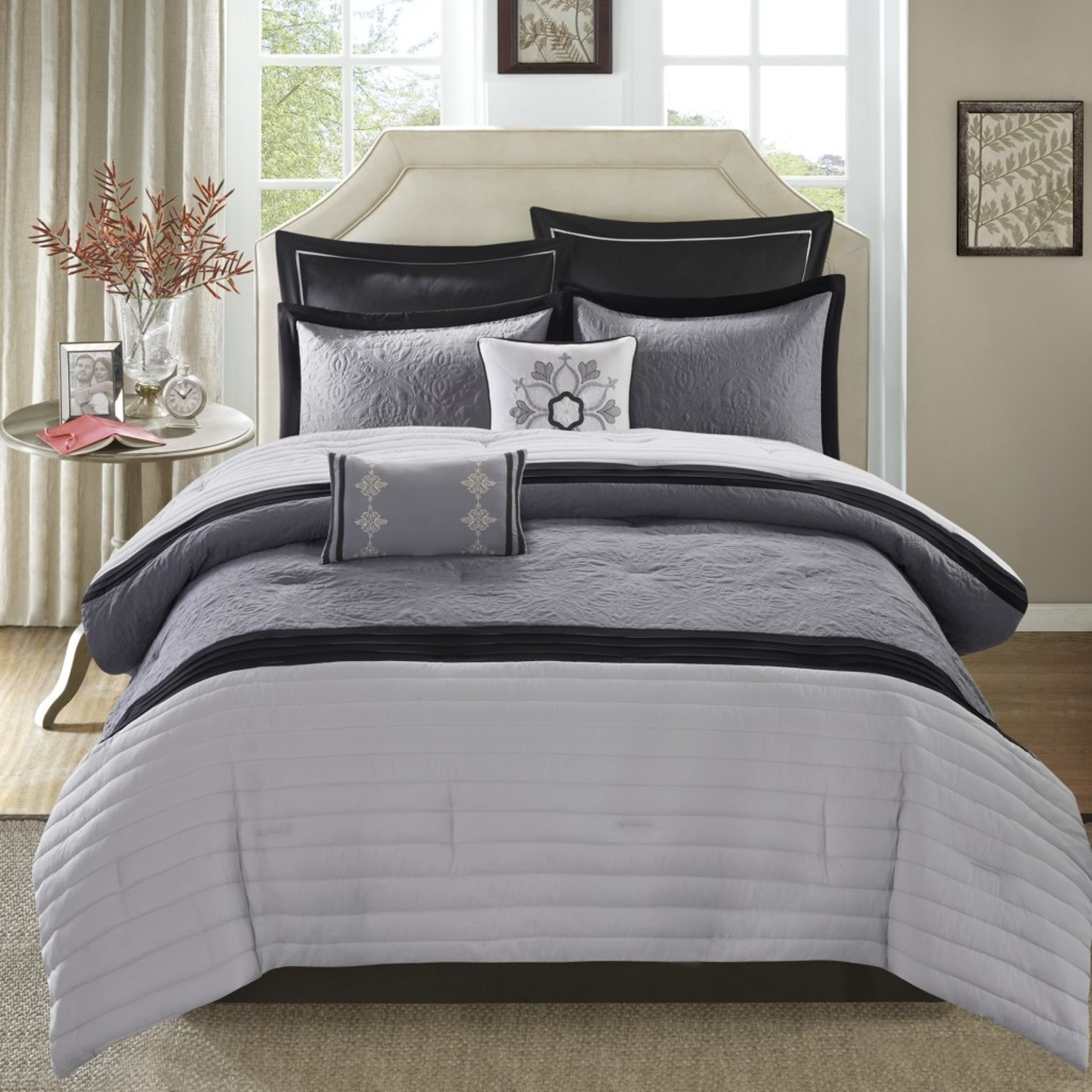 Kingston Gray By Madison Park Beddingsuperstore Com
