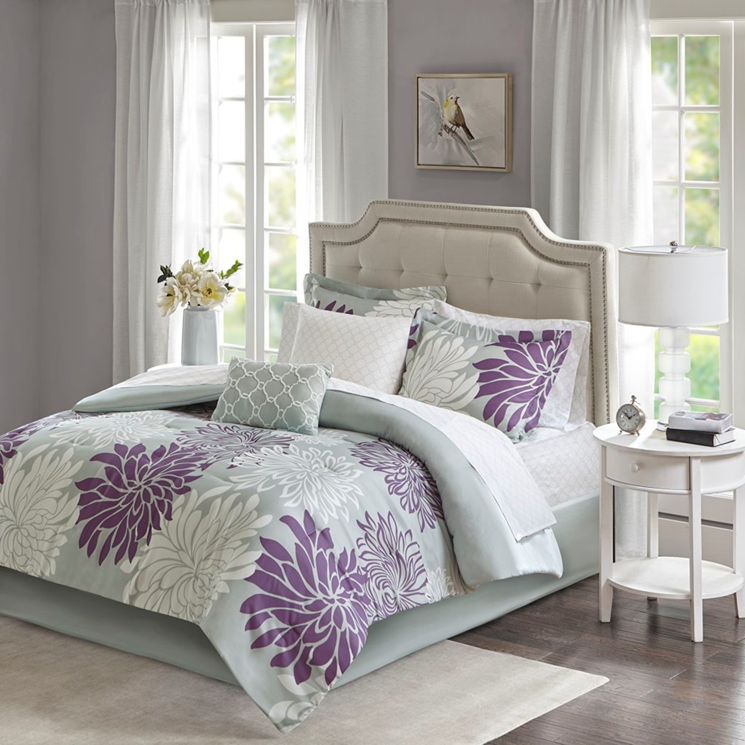 Maible Purple Comforter and Sheet Set by Madison Park