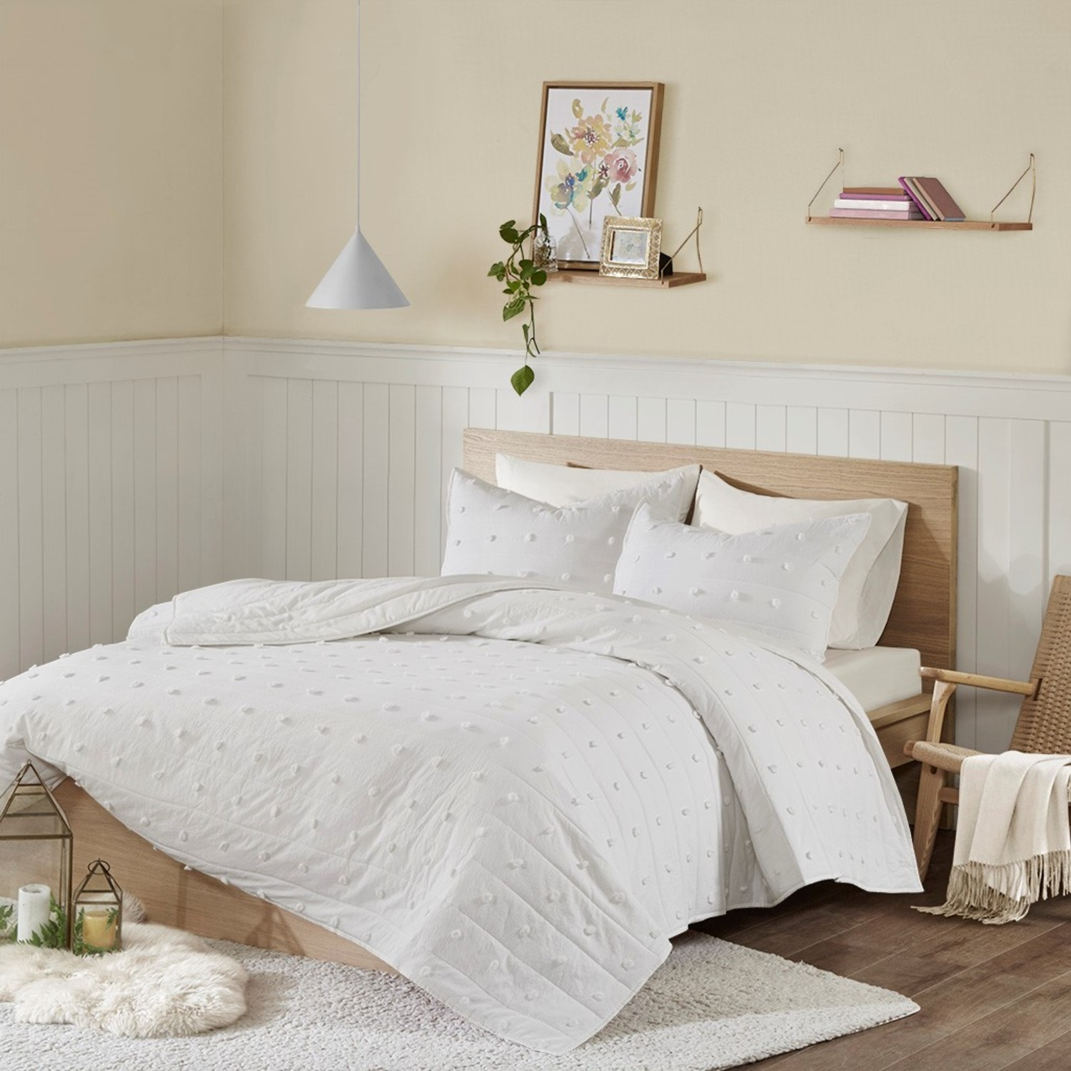 Brooklyn Ivory Coverlet by Urban Habitat