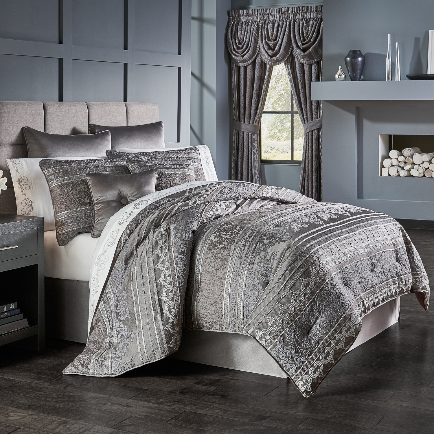 Mackay Graphite by Five Queens Court Bedding