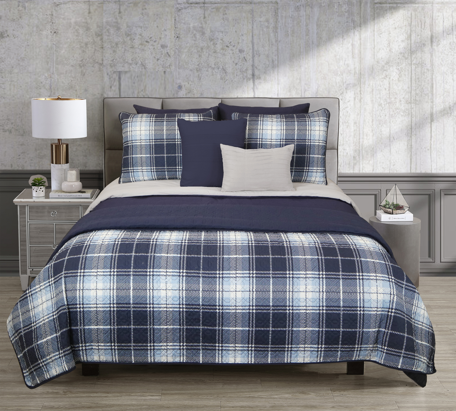 Blue Plaid by Riverbrook Home Bedding