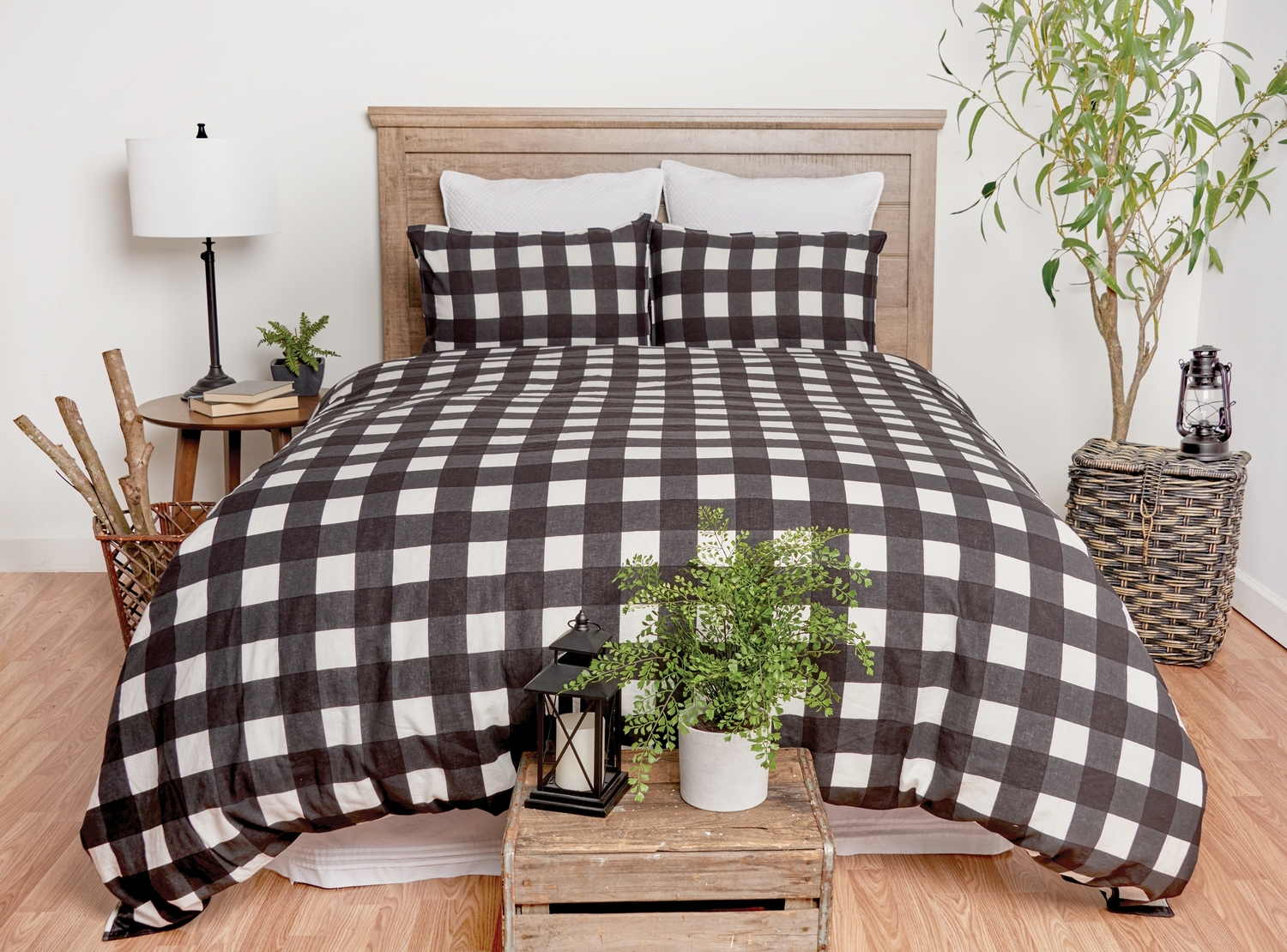 Buffalo Check Black by C&F Quilts