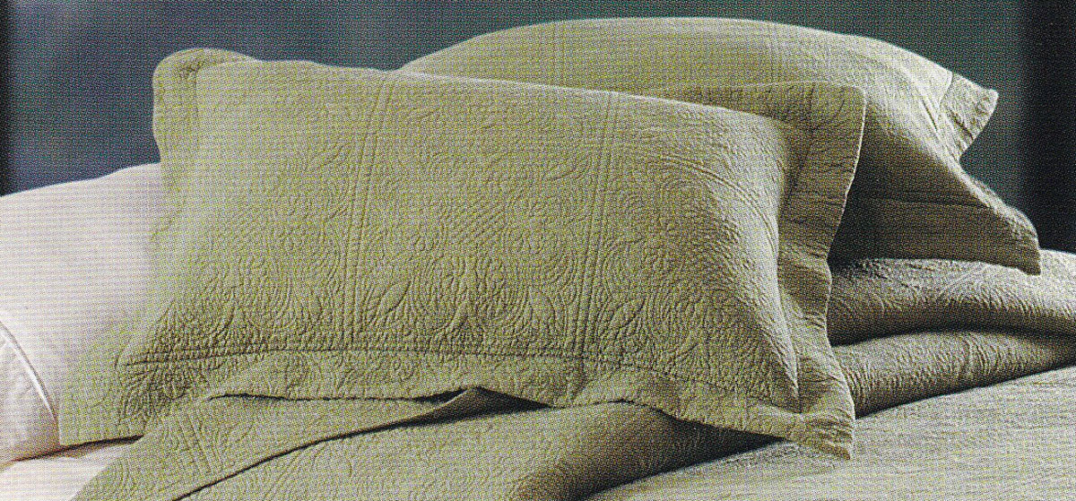 Matelasse Quilted Sage by C&F Quilts