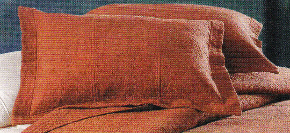 Matelasse Quilted Terra Cotta by C&F Quilts