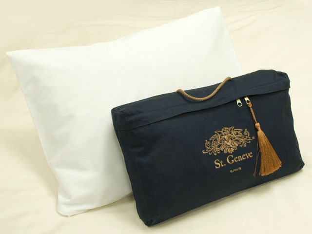 Luxury Travel Pillow - White Goose Down Filled by St. Geneve Luxury Bedding