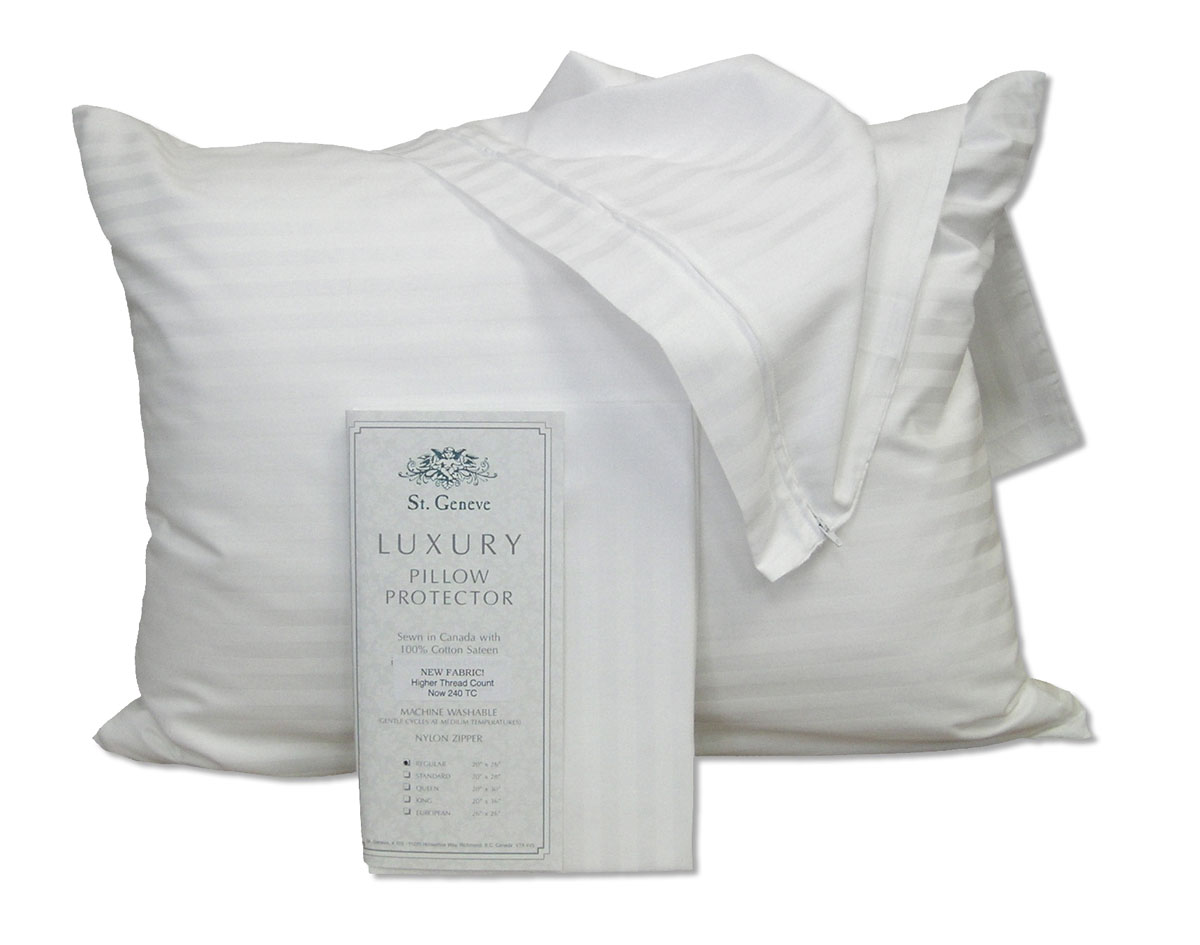 Luxury Pillow Protectors by St. Geneve Luxury Bedding