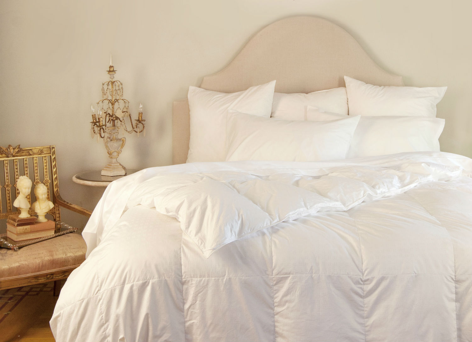 Salzburg Duvet/Down Comforter & Pillows by St. Geneve Luxury Bedding