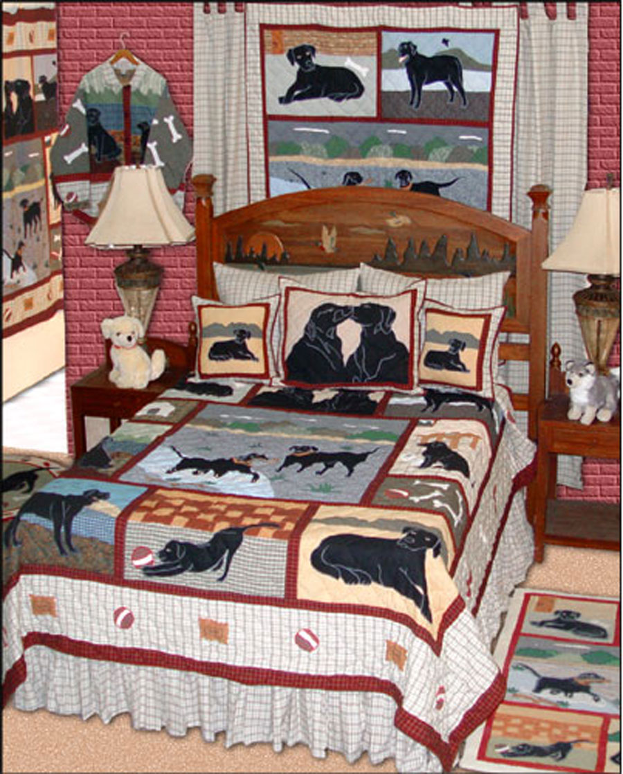 Black Lab By Patchmagic Quilts Beddingsuperstore Com