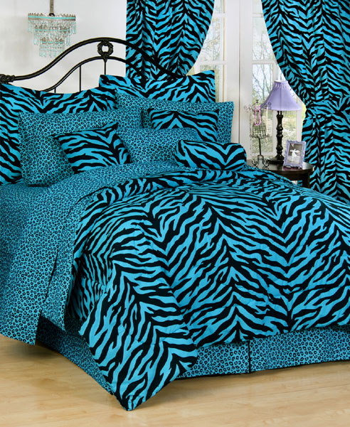 Zebra Blue By Karen Maki Beddingsuperstore Com
