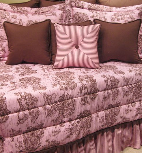 Toile Pink Amp Brown By Wilk Textiles Beddingsuperstore Com