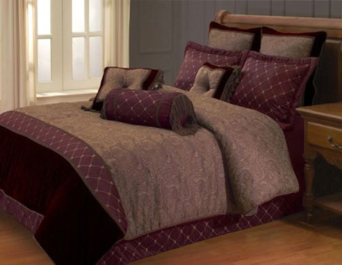 Opulent Paisley Burgundy By Hallmart Collection