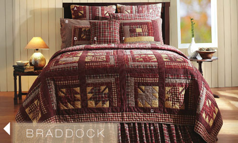 Braddock By Vhc Brands Quilts Beddingsuperstore Com
