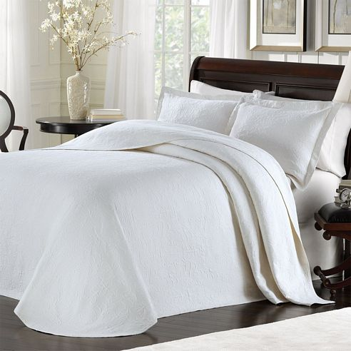 Majestic White Bedspread By Lamont Home