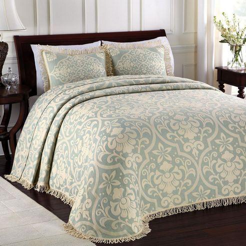 All Over Brocade Blue By Lamont Home Beddingsuperstore Com