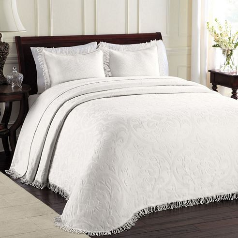 All Over Brocade White By Lamont Home Beddingsuperstore Com