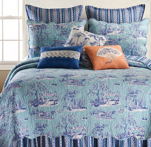 Hampstead Toile By C Amp F Quilts Beddingsuperstore Com