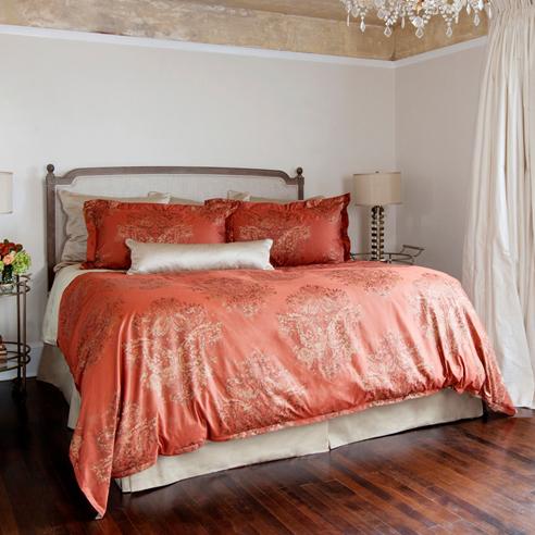 Fiorella Terracotta By St Geneve Luxury Bedding