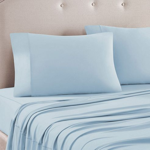 3m Scotchguard Blue Jersey Knit Sheet Set