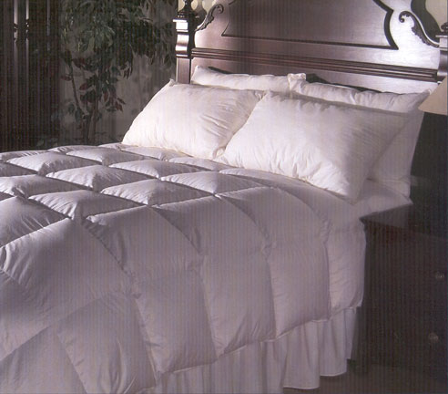 how to clean a white down comforter