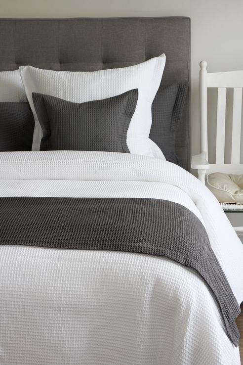 Waffle Weave Grey By Cd Bedding Of Ca Beddingsuperstore Com